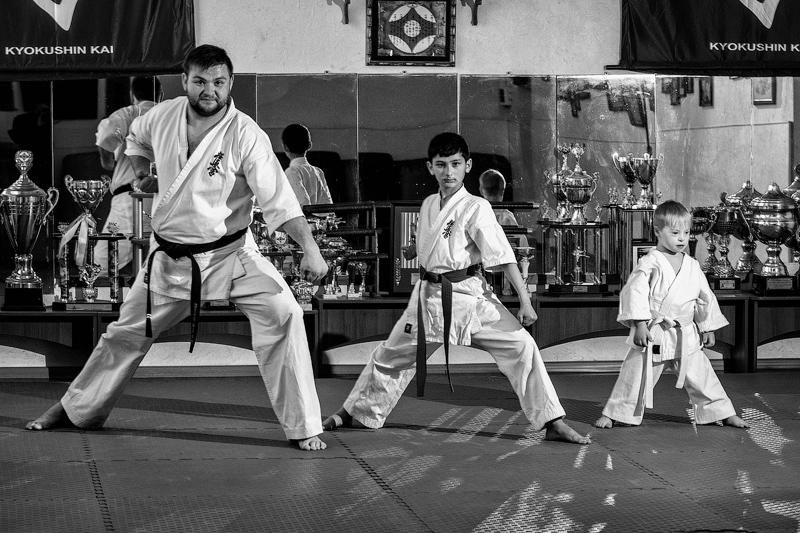 Артем Хоменко вже рік опановує бойові мистецтва в школі кіокушин карате