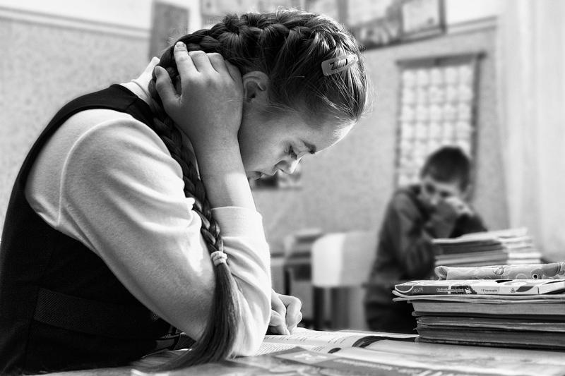 Настя Гандрабург вчиться в спеціалізованій школі